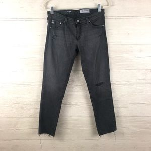 AG-ED Denim The Stily Crop Cigarette Crop Size 28